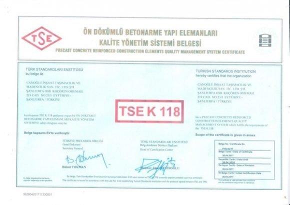 TSE K 118
